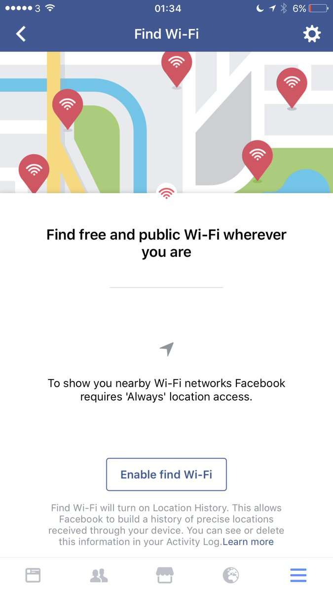 Facebook Wifi Finder